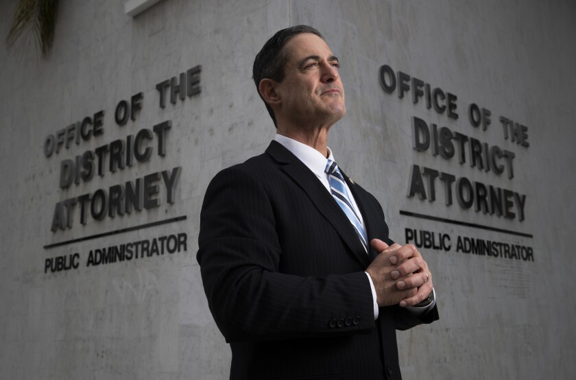 SANTA ANA, CALIF. -- MONDAY, MARCH 11, 2019: Orange County District Attorney Todd Spitzer is photogr