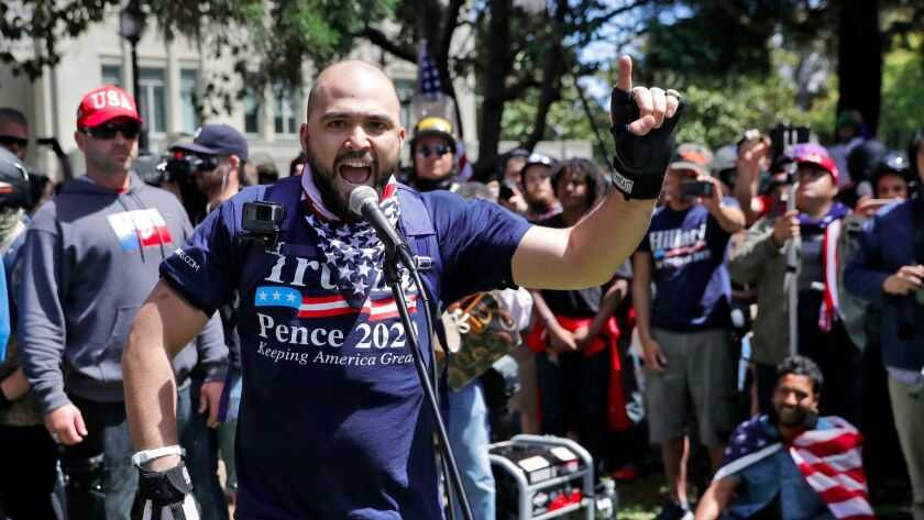 """Joey Gibson, a self-described """"Libertarian and a Christian"""" who is organizing the Portland demonstra"""