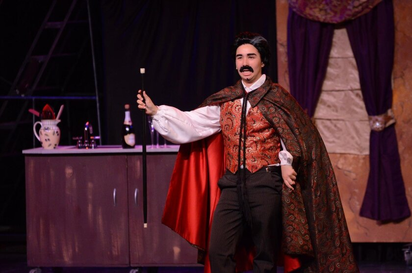 "Cameron Chang as Aldolpho in CCA's production of ""The Drowsy Chaperone."""
