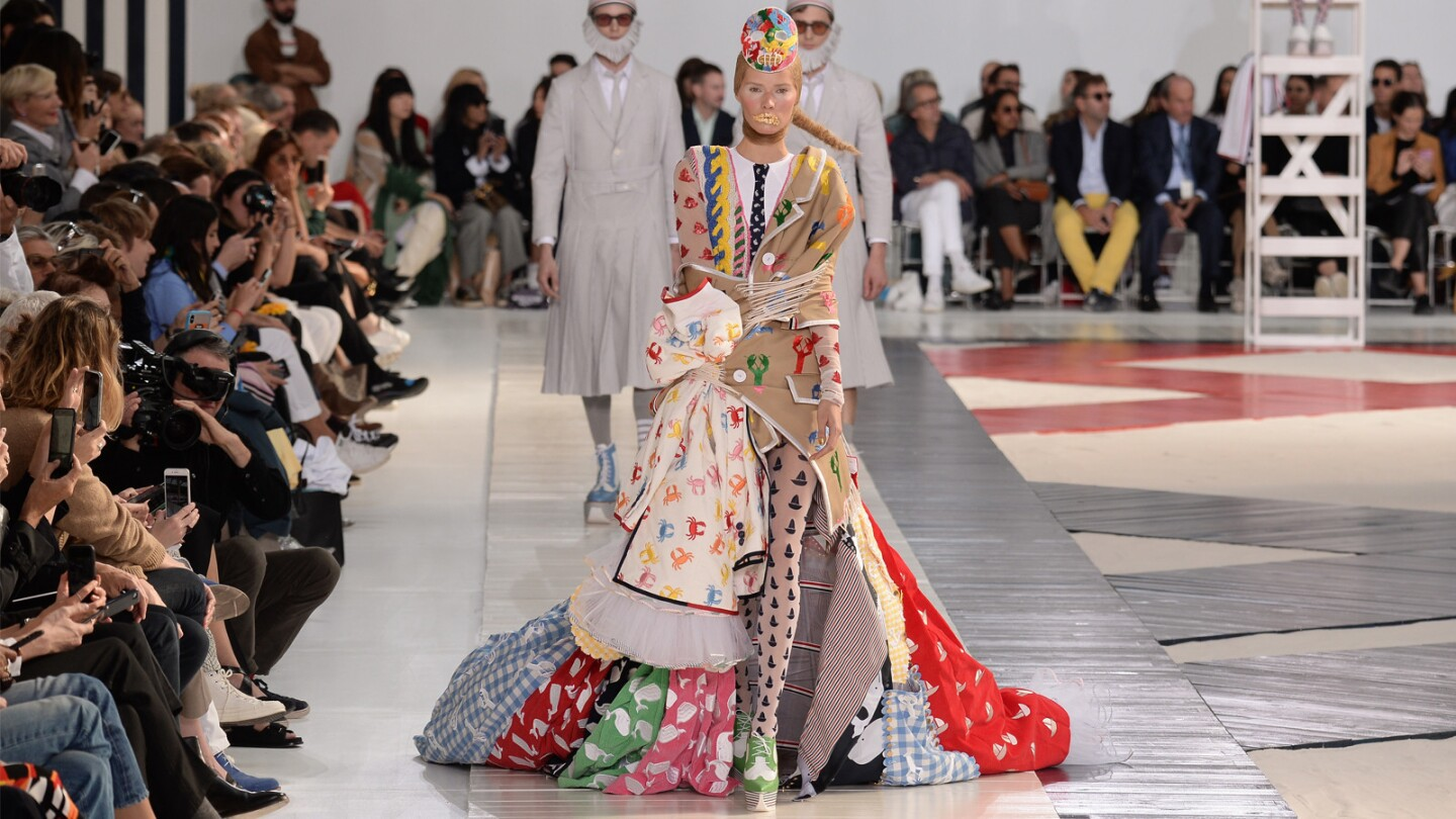 Thom Browne's sliced, diced and re-spliced spring and summer 2019 women's runway collection was full of the designer's signature quirkiness — and skill.