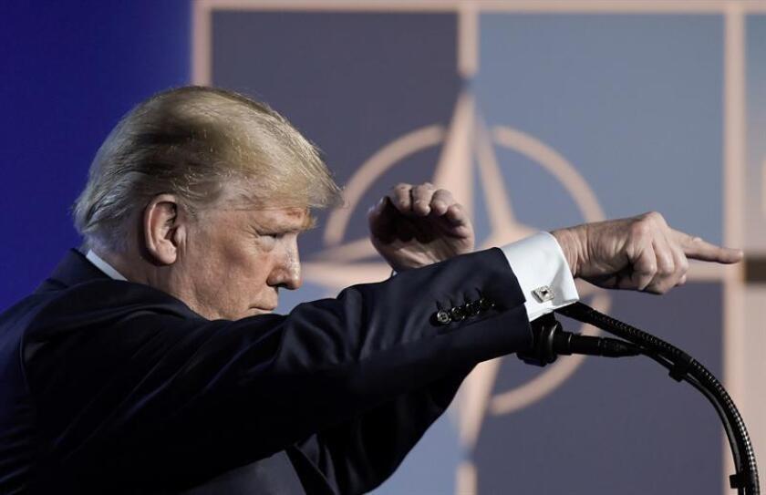 """El presidente Donald Trump consideró hoy que la Unión Europea (UE), uno de los aliados históricos de EE.UU., es ahora un """"enemigo"""" del país. EFE/ARCHIVO"""