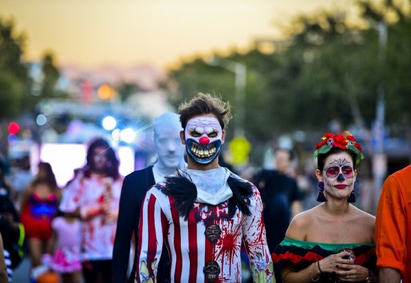 Thousands of revelers turned out for the 40th annual West Hollywood Halloween Carnaval in 2015. This year's event will take place Monday.