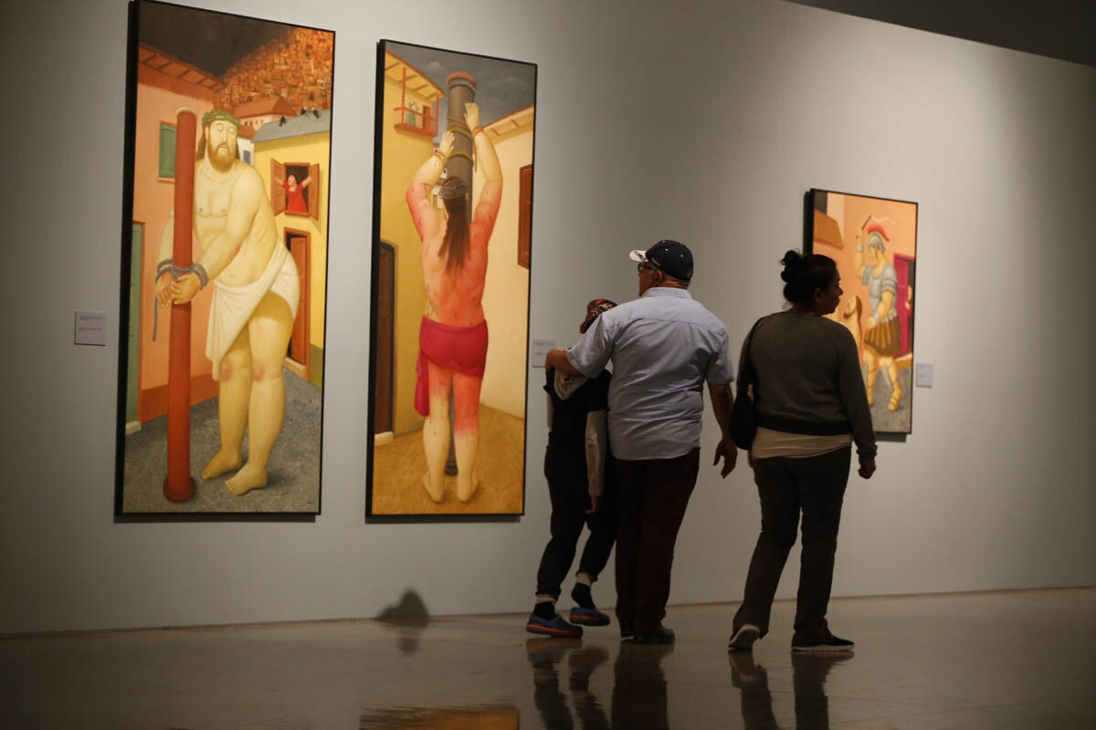 Exhibits and events happening at Centro Cultural Tijuana (CECUT). The Via Crucis (or Stations of the Cross) is a universal topic; therefore it is also easy to predict the kind of scenes we will get to see in Fernando Botero's series. Exhibit runs March 24, 2017-June 25, 2017. (Alejandro Tamayo/Union Tribune)
