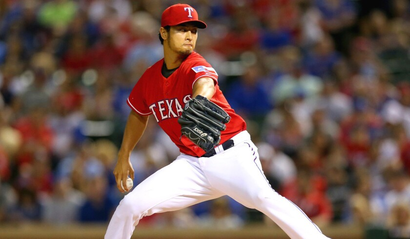Rangers ace Yu Darvish came within one out of a no-hitter against the Red Sox on Friday night in Arlington, Texas.