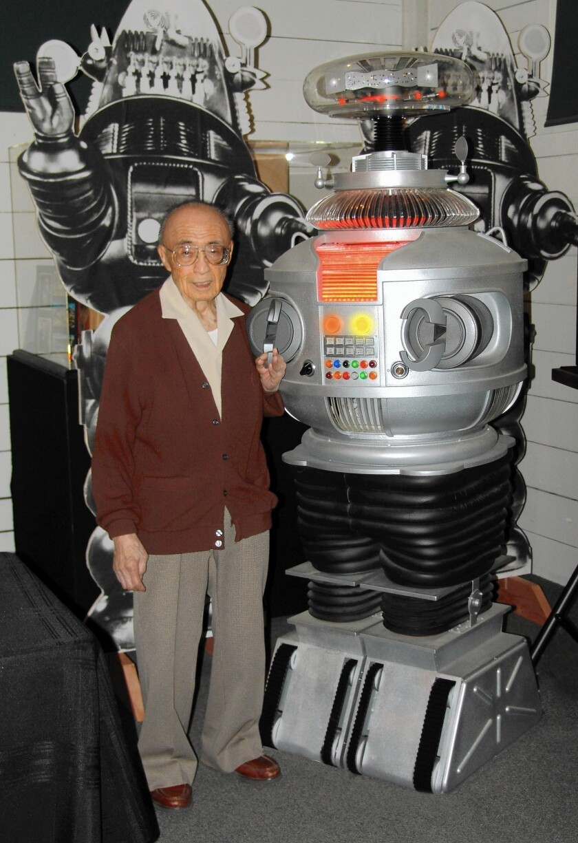 """Movie art director Robert Kinoshita designed robots for """"Forbidden Planet"""" and """"Lost in Space."""""""