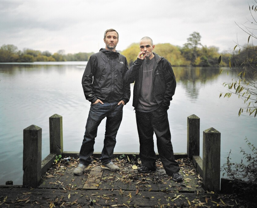 Electronic music duo Rob Brown, left, and Sean Booth, known as Autechre.
