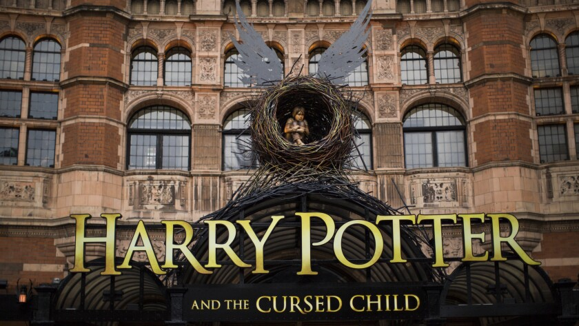 "The play ""Harry Potter and the Cursed Child"" in London. The book goes on sale Saturday."
