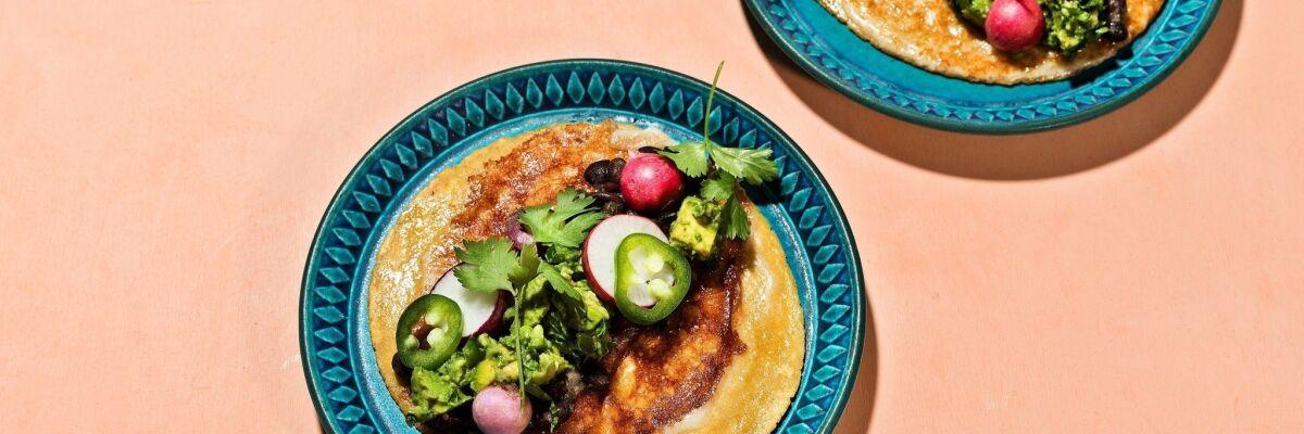 Oaxacan string cheese taco