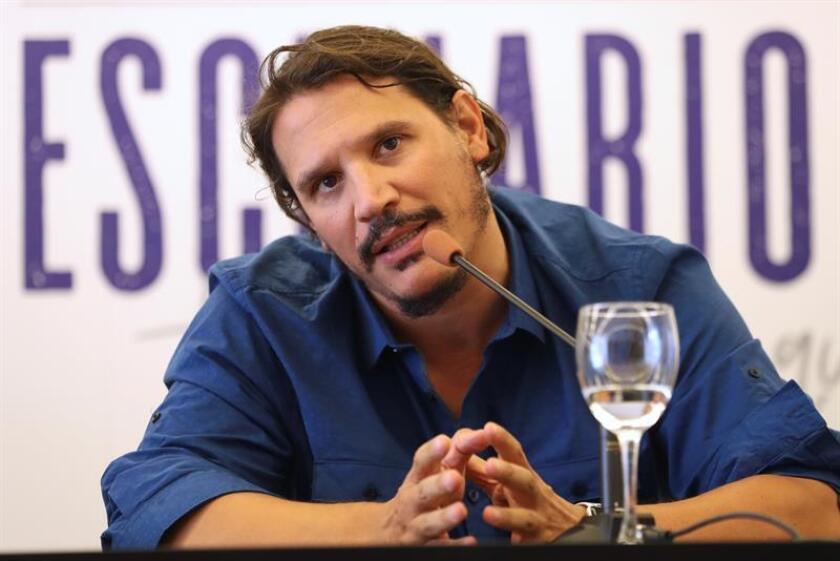 """Sergio Peris-Mencheta, durante la rueda de prensa que ofreció para presentar el musical que él dirige bajo en título """"Lehman Trilogy"""". EFE/Archivo"""