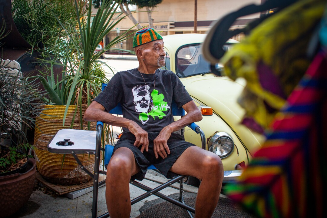 On most days, you can find Sika Dwimfo, 79, sitting outside his namesake store in Leimert Park Village.