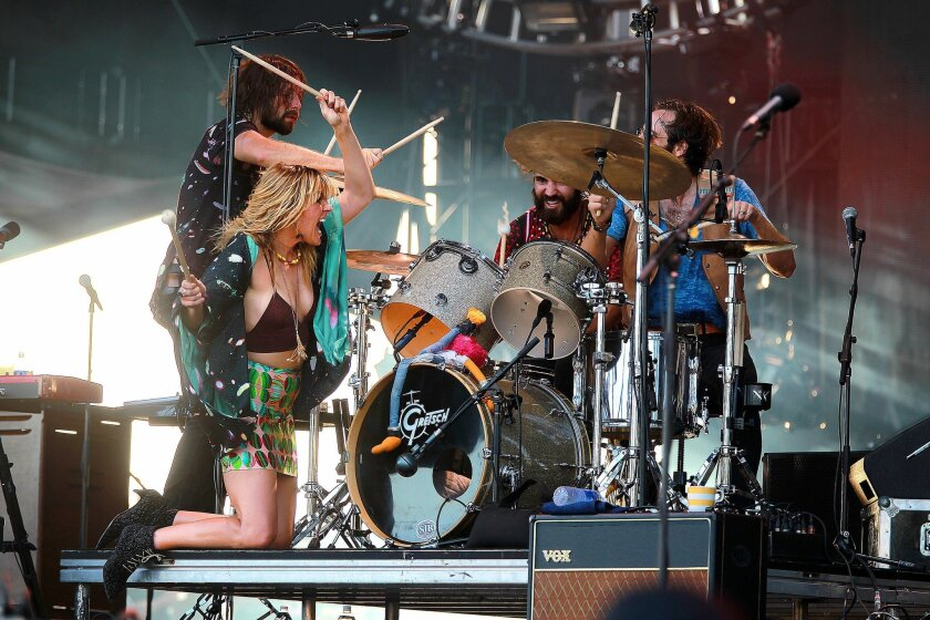 Grace Potter entertained the audience at the Sunset Cliffs stage with a high energy performance Sunday afternoon.