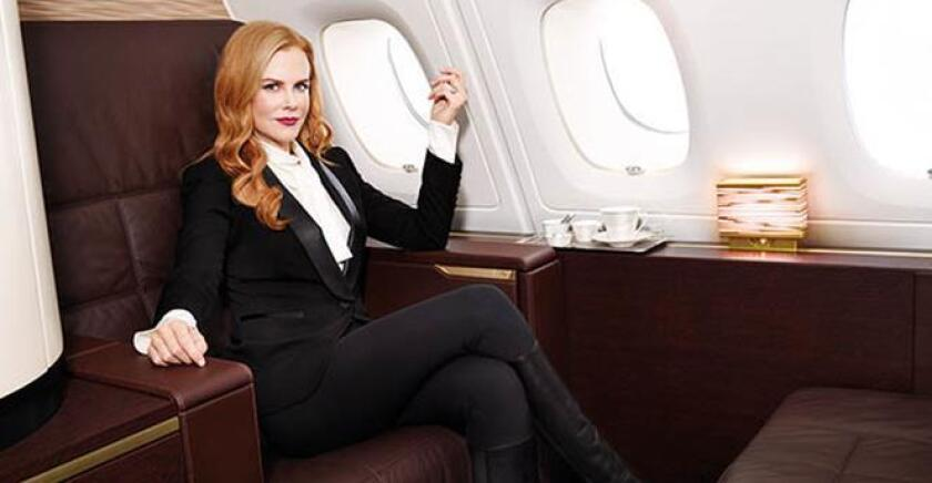 Nicole Kidman appears in an ad for Etihad Airways, the national airline of the United Arab Emirates. A flight attendants group has criticized her for working with the airline.