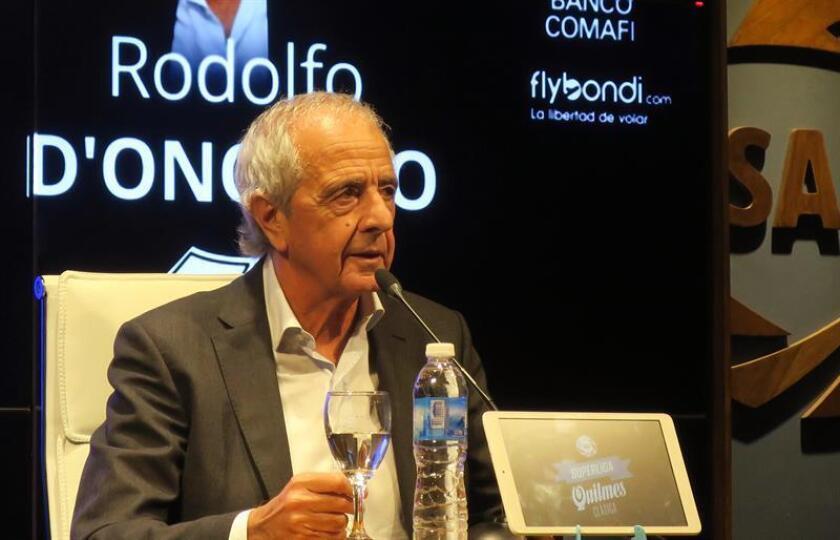 El presidente del club argentino River Plate Rodolfo D'Onofrio. EFE/Archivo