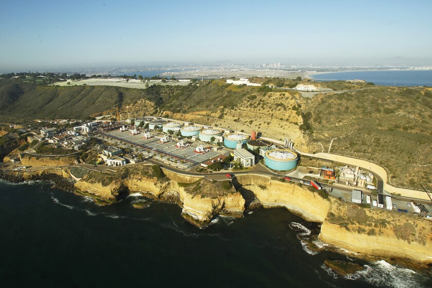 Aerial photo of Point Loma Wastewater Treatment Plant.