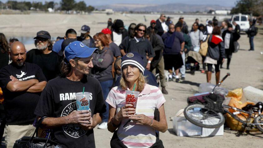 ANAHEIM, CALIF. -- TUESDAY, FEBRUARY 20, 2018: Mark Randall, 47, left, and his wife Tonya Randall, 6