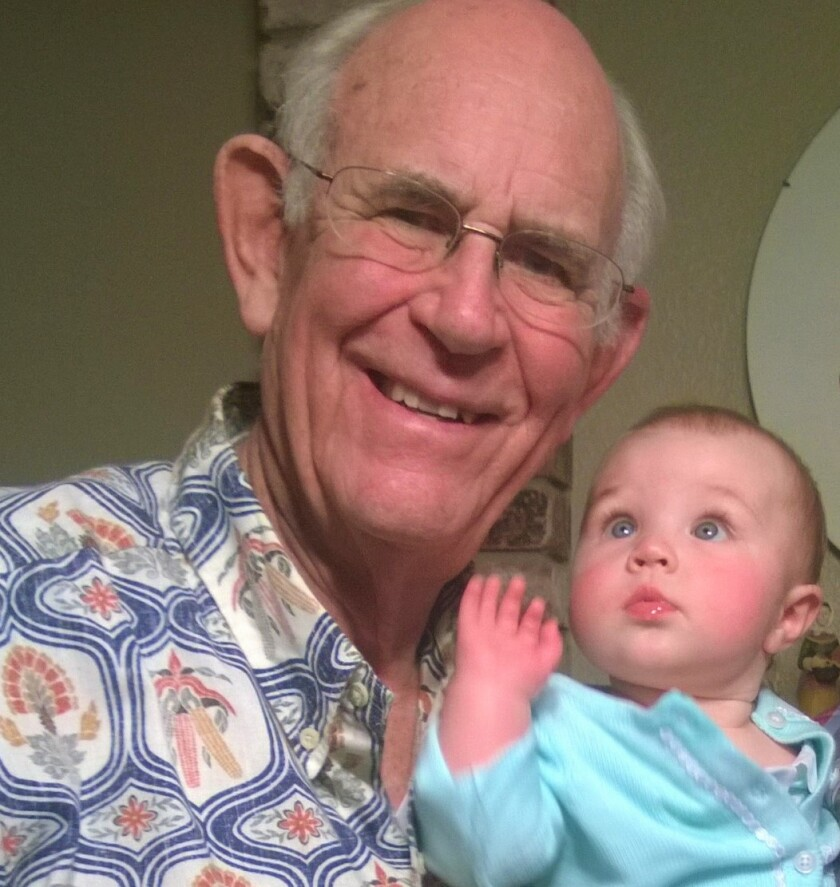 Retired physican Frederick Frye, 85, is pictured in 2015 with his great-granddaughter, Annabelle Mooney.