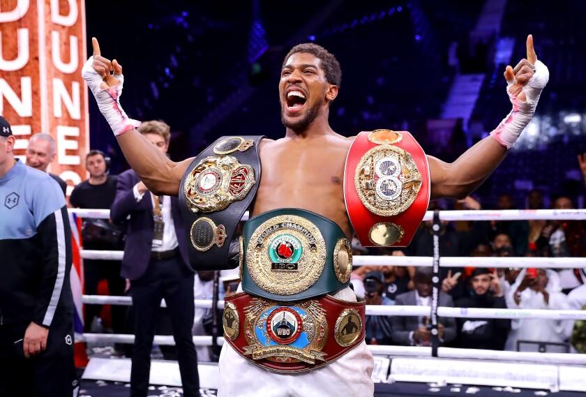 Anthony Joshua reconquistó sus títulos de peso pesado
