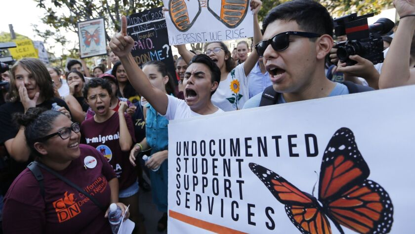 Students in Arizona rally in support of the Deferred Action for Childhood Arrivals program.