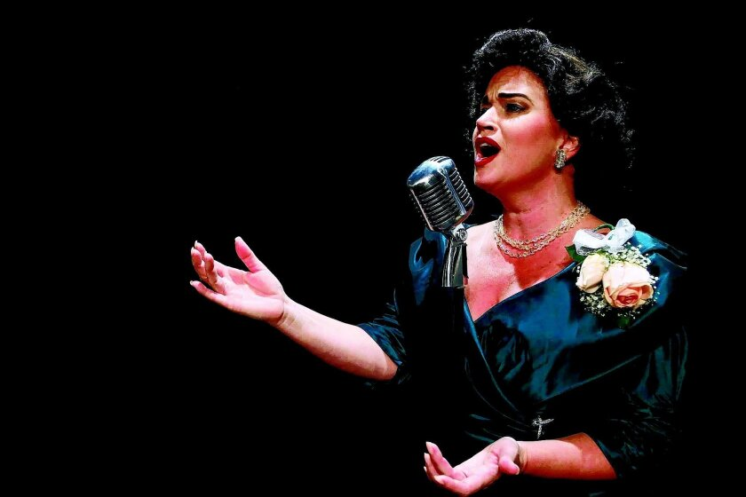 "Debbie David as Patsy Cline in ""Always … Patsy Cline,"" directed by Melinda Gilb."