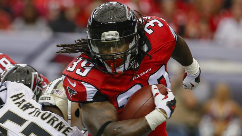 Atlanta Falcons running back Steven Jackson carries the ball during the first half of a 37-34 win over the New Orleans Saints on Sunday. Are the Falcons poised to be one of the surprises of the 2014 NFL season?