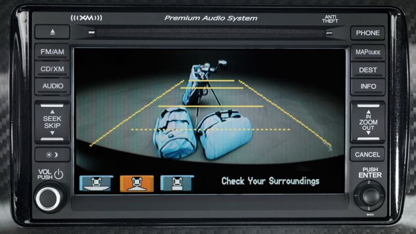 A backup camera view on a 2013 Honda Civic Si Coupe.
