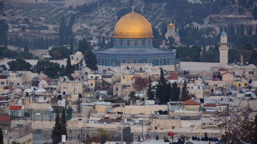 A view of Jerusalem's old city is seen Tuesday, Dec. 5, 2017. U.S. officials have said that Presiden