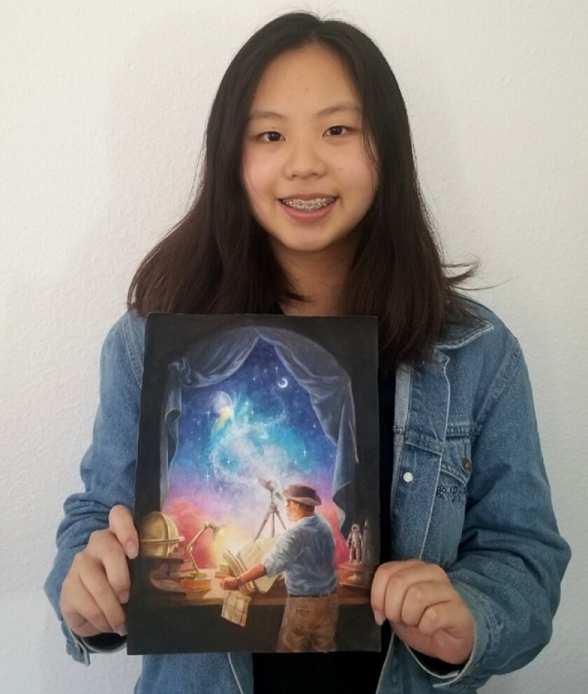 Westview High School 10th-grader Jenny Zhu has been awarded a second prize of $2,000 in the ArtEffect Project Competition.