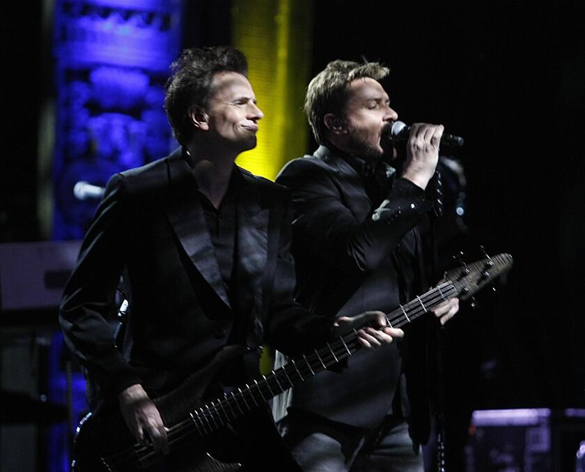 John Taylor, left, and Simon Le Bon of Duran Duran.