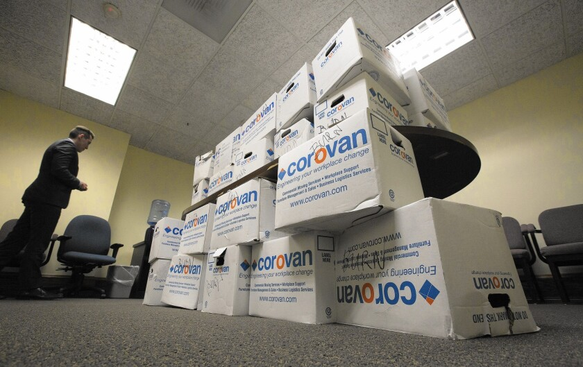 Boxes of documents