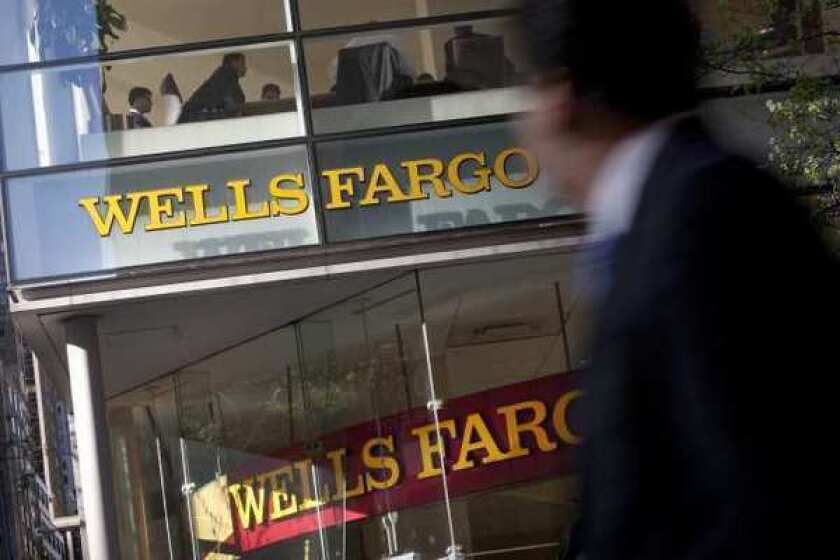 Wells Fargo said it was targeted by a denial-of-service attack, in which a website is bombarded with so many requests that it can slow down or stop working.