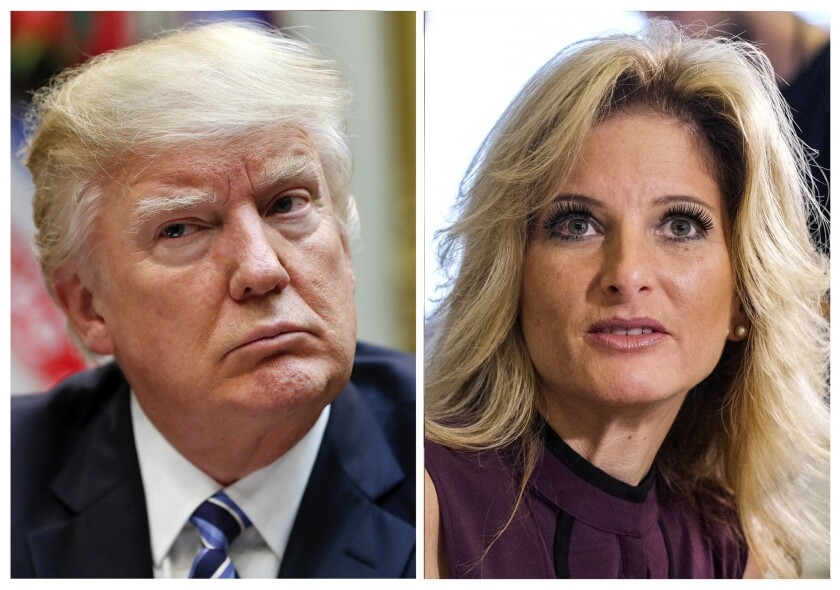 """President Trump is coming under fire from Summer Zervos, who says he kissed her without her consent when she was a contestant on """"The Apprentice."""""""