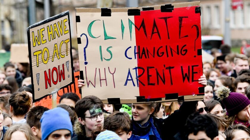 Fridays For Future demonstration in Dresden, Germany - 15 Mar 2019