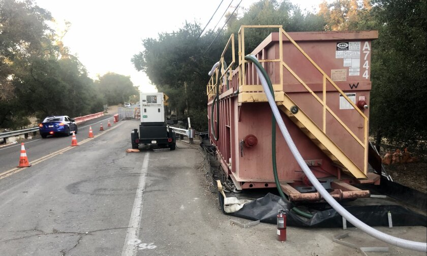 A San Diego Gas & Electric underground power line project in Valley Center.
