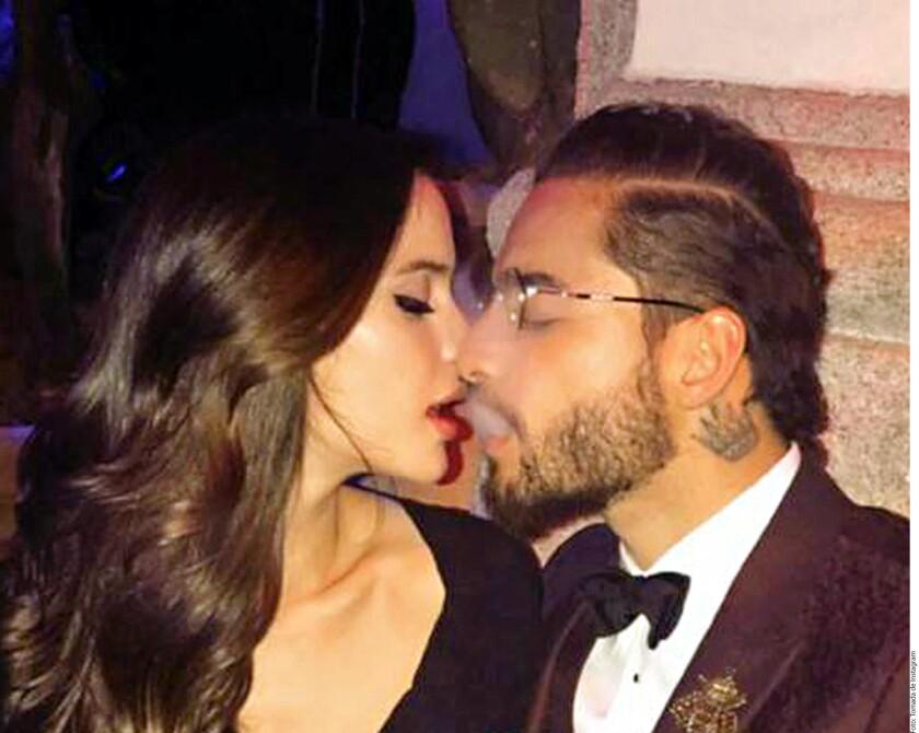La modelo Natalia Barulich felicitó en redes sociales al cantante Maluma, con un mensaje en el que confirmó los rumores de que son novios.