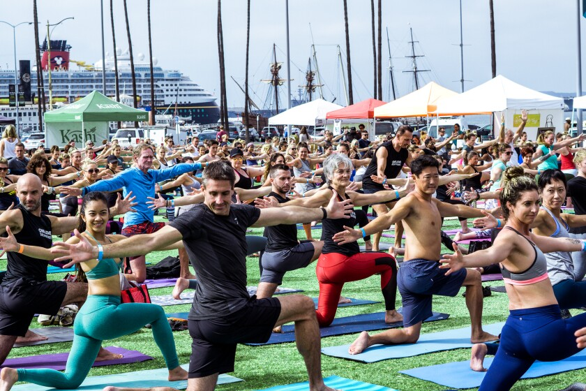A photo of One Love Movement's Charity Yoga Event 2018