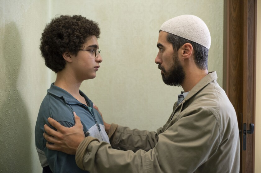 Idir Ben Addi, left, and Othmane Moumen in the movie 'Young Ahmed'