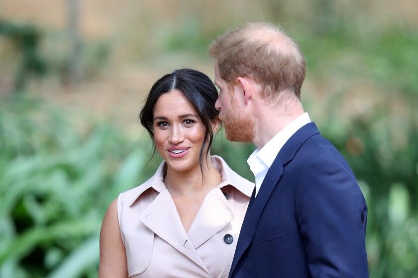The Duke and Duchess of Sussex visit Johannesburg.
