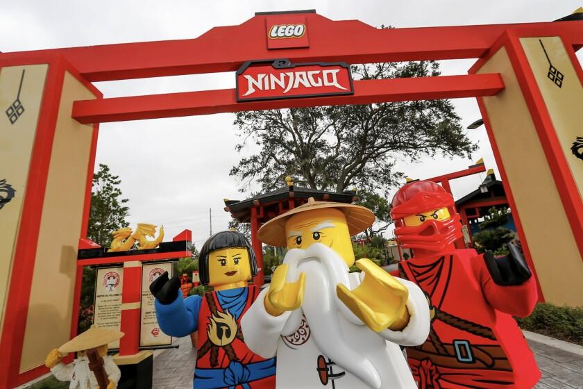 Ninjago characters at Legoland.