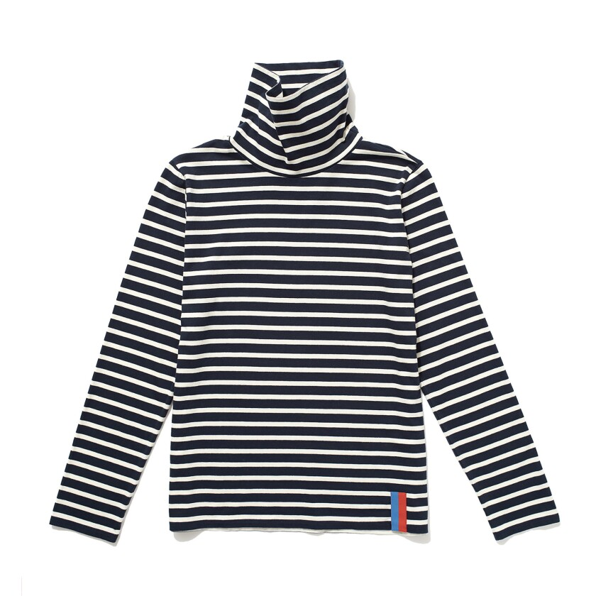 A turtleneck from Kule is from its signature striped collection. The brand?s ongoing pop-up in Brent