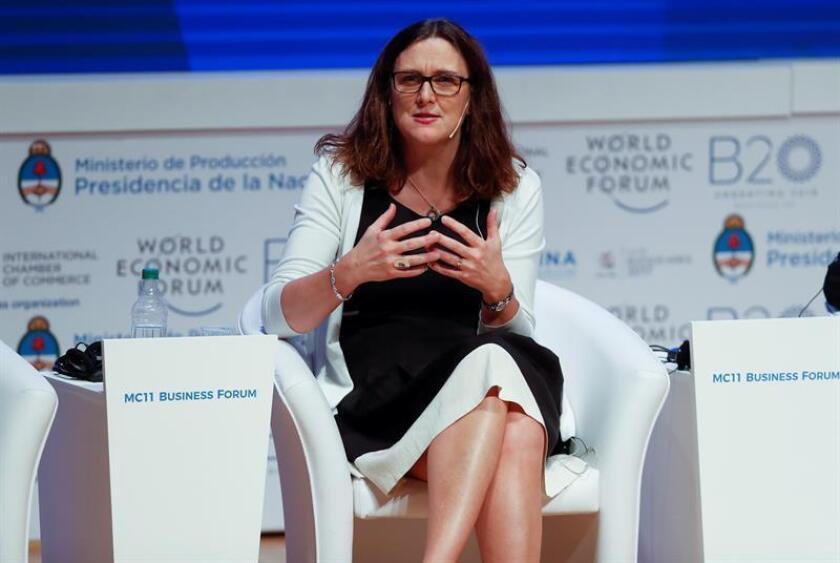 La comisaria europea de Comercio, Cecilia Malmström. EFE/Archivo