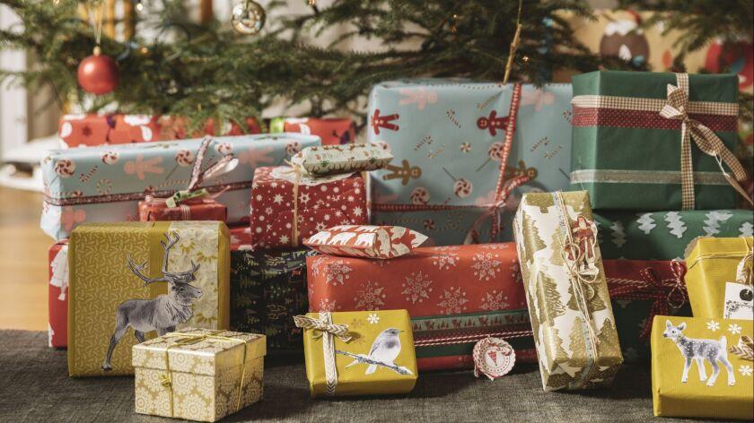 Christmas presents under tree
