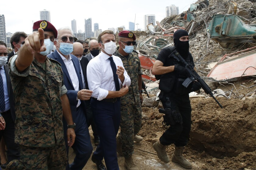 French President Emmanuel Macron in Beirut