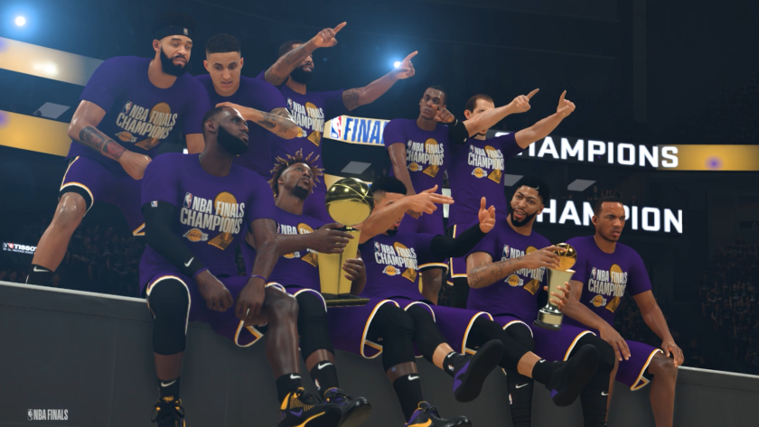 The Lakers are the 2019-20 NBA champions, at least in the NBA 2K world.