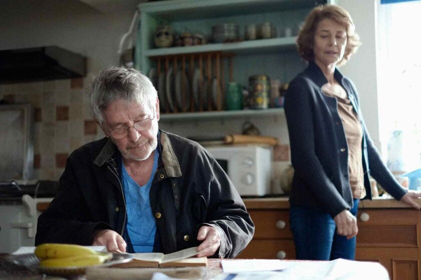 "Tom Courtenay and Charlotte Rampling in Andrew Haigh's ""45 Years."""
