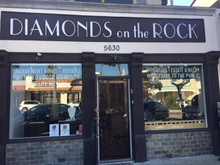 Diamonds on the Rock is at 5630 La Jolla Blvd., (858) 750-2190