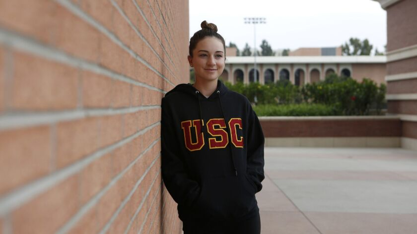 LOS ANGELES, CA - MAY 13, 2019: USC golfer Gabriela Ruffels is photographed on campus. Ruffels is a