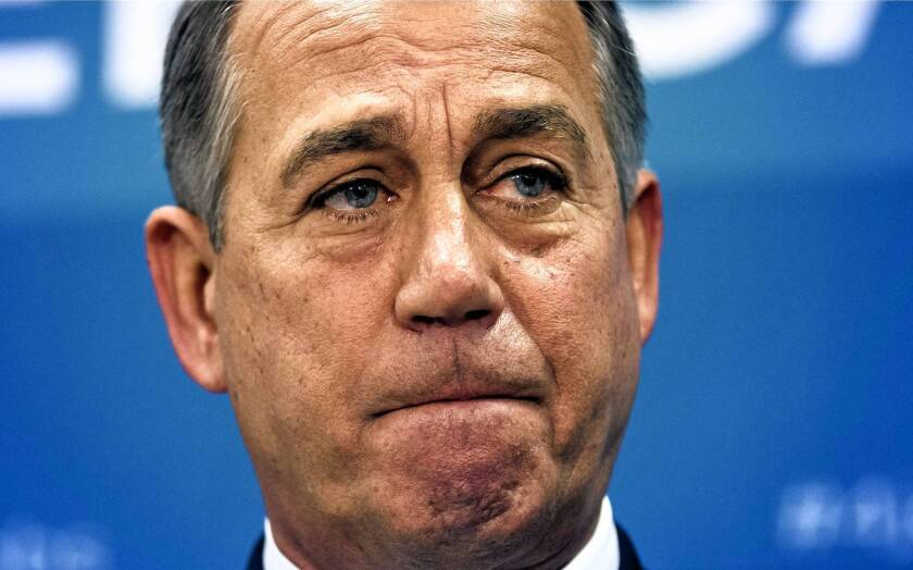 House Speaker John A. Boehner does not appear to have a backup plan if the Senate sends the funding bill back to the House without the healthcare repeal.