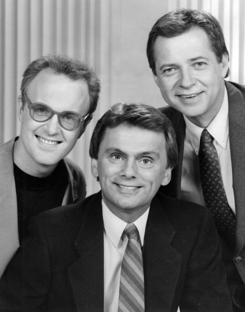 1989 file photo of Saxophonist tom Scott, left, as musical conductor and Dan Miller, right, as ancho