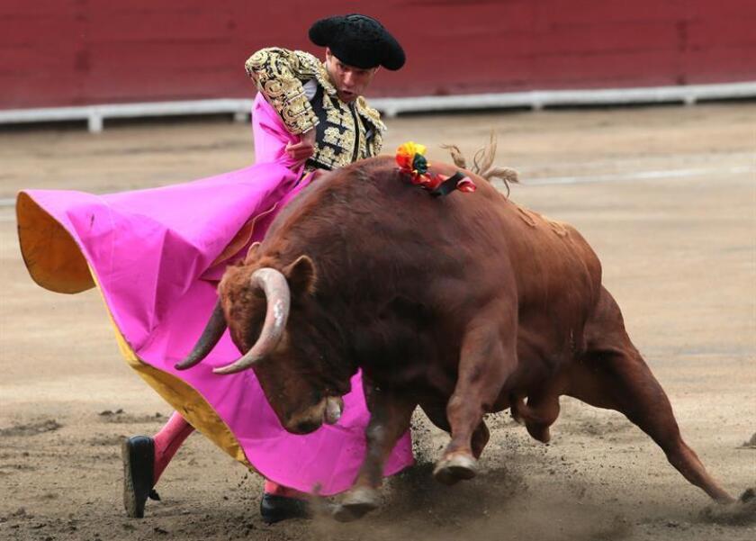 El torero español Antonio Ferrera lidia un toro. EFE/Archivo