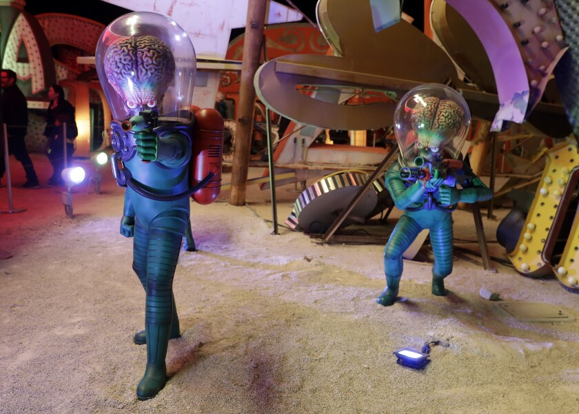 """Space Suited Martians"" in ""Lost Vegas."""